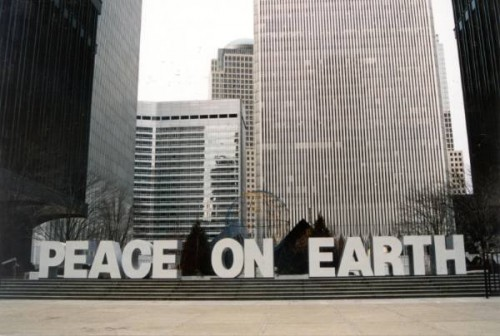 WTC Plaza -- Peace on Earth